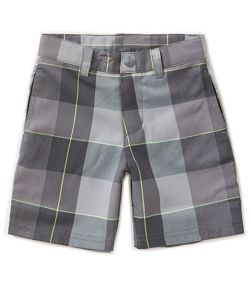 Under Armour Little Boys 2T-7 Medal Play Plaid Shorts