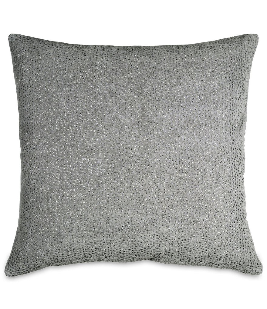 Donna Karan Fuse Embroidered Velvet Square Feather Pillow