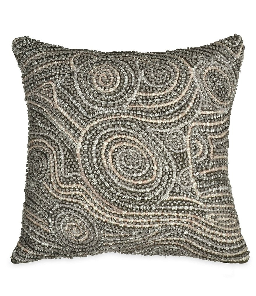 Donna Karan Fuse Beaded Linen Square Feather Pillow
