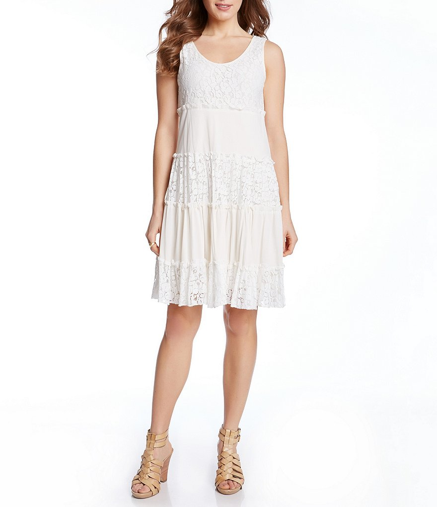 Karen Kane Tara Tiered Lace Dress