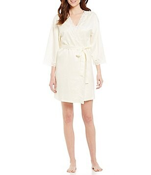 Lauren Ralph Lauren Signature Collection Satin Wrap Robe
