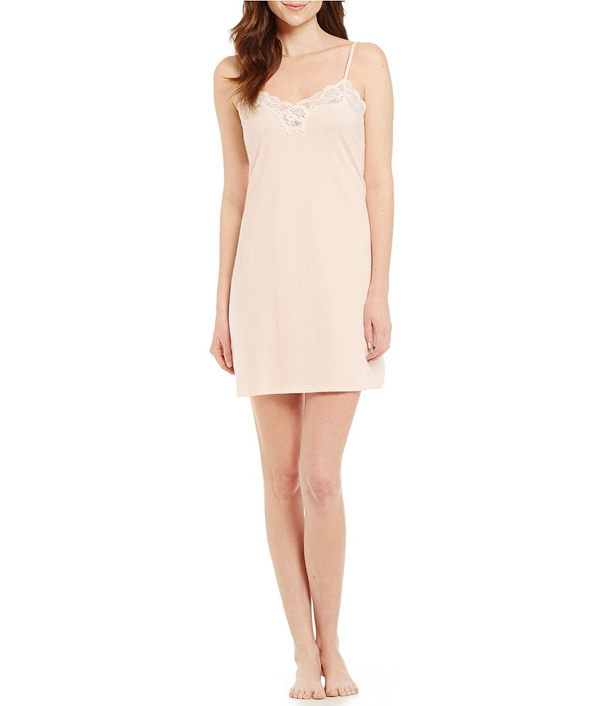 Lauren Ralph Lauren Signature Collection Lace-Trimmed Sweetheart Chemise