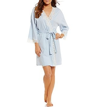 Lauren Ralph Lauren Signature Collection Jersey Knit Wrap Robe