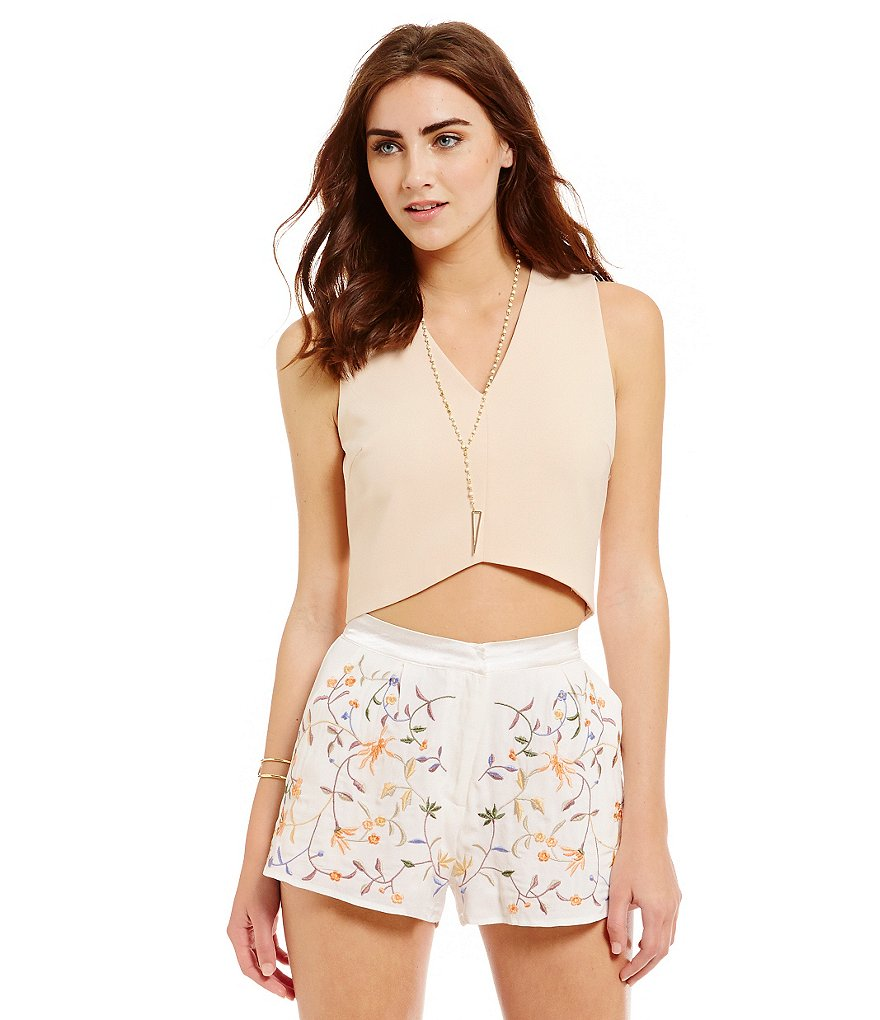 Lucy Paris V-Neck Crop Top