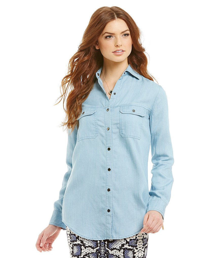 Gianni Bini Lorelai Button Down Blouse