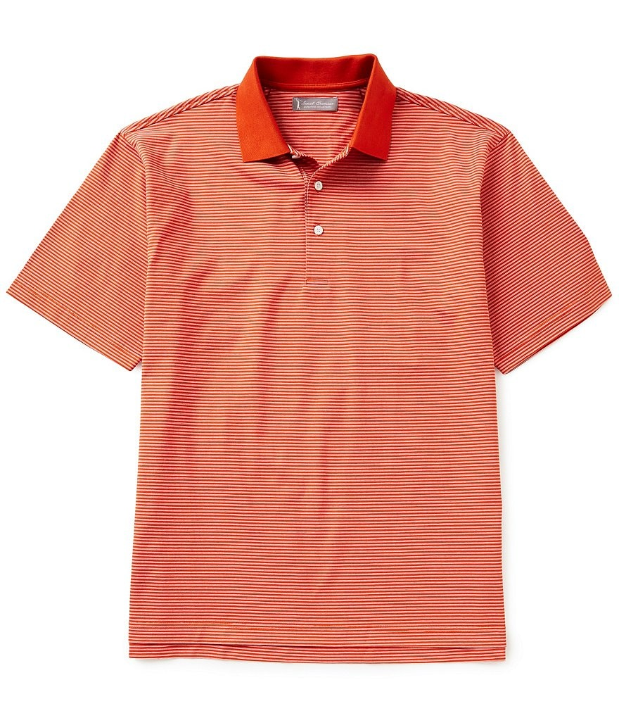 Daniel Cremieux Signature Short-Sleeve Fine Horizontal Stripe Polo Shirt
