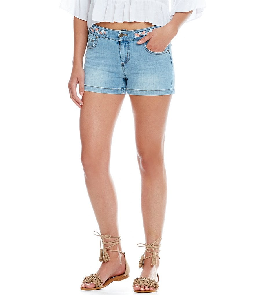 Celebrity Pink Americana Braid Denim Shorts