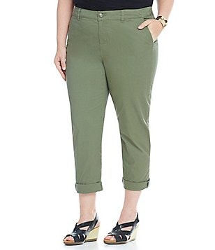 Intro Plus Denise Twill Boyfriend Pants