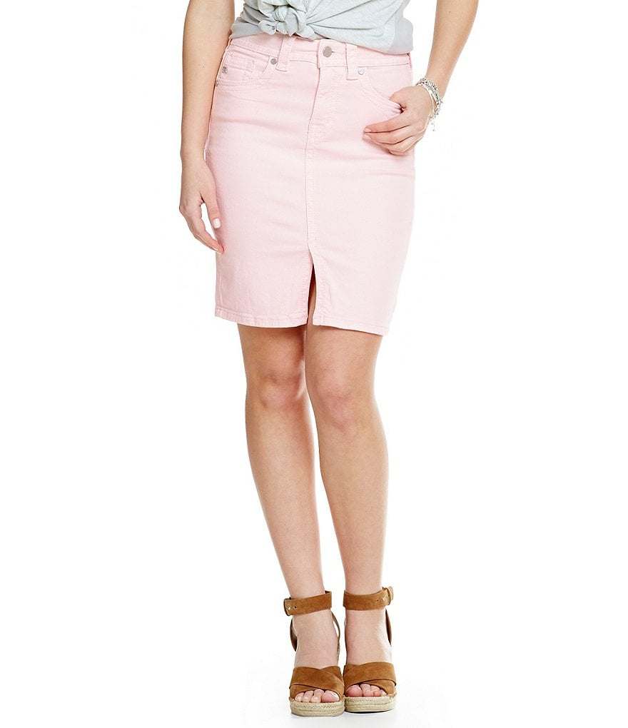 Miss Me High Rise Denim Pencil Skirt