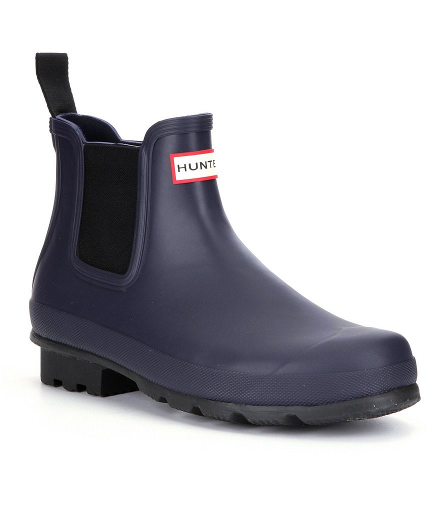 Hunter Original Men´s Waterproof Chelsea Dark Sole Waterproof Rain Boots