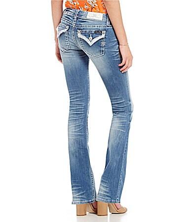 Miss Me Border Embellished Bootcut Jeans