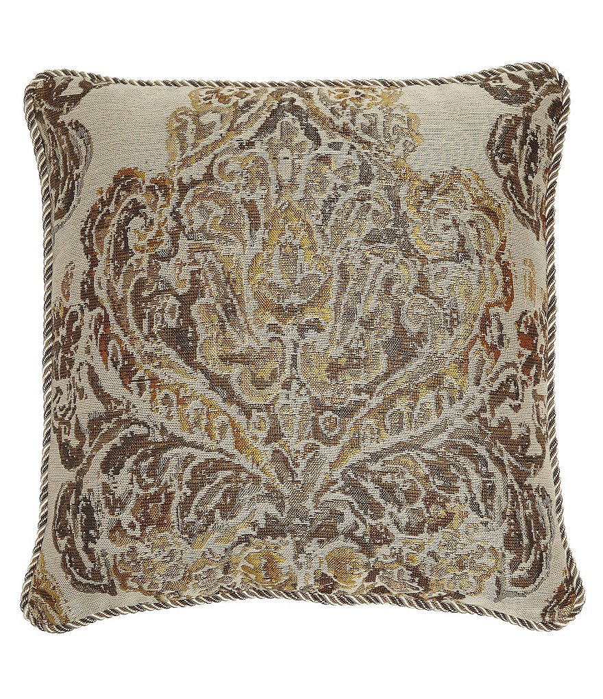 Veratex Devonshire Damask Jacquard Square Pillow