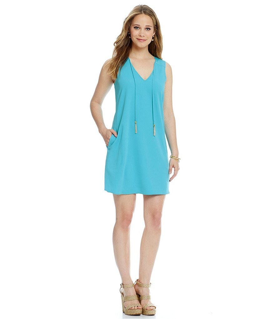 Trina Turk Arleen V-Neck Tassel Dress