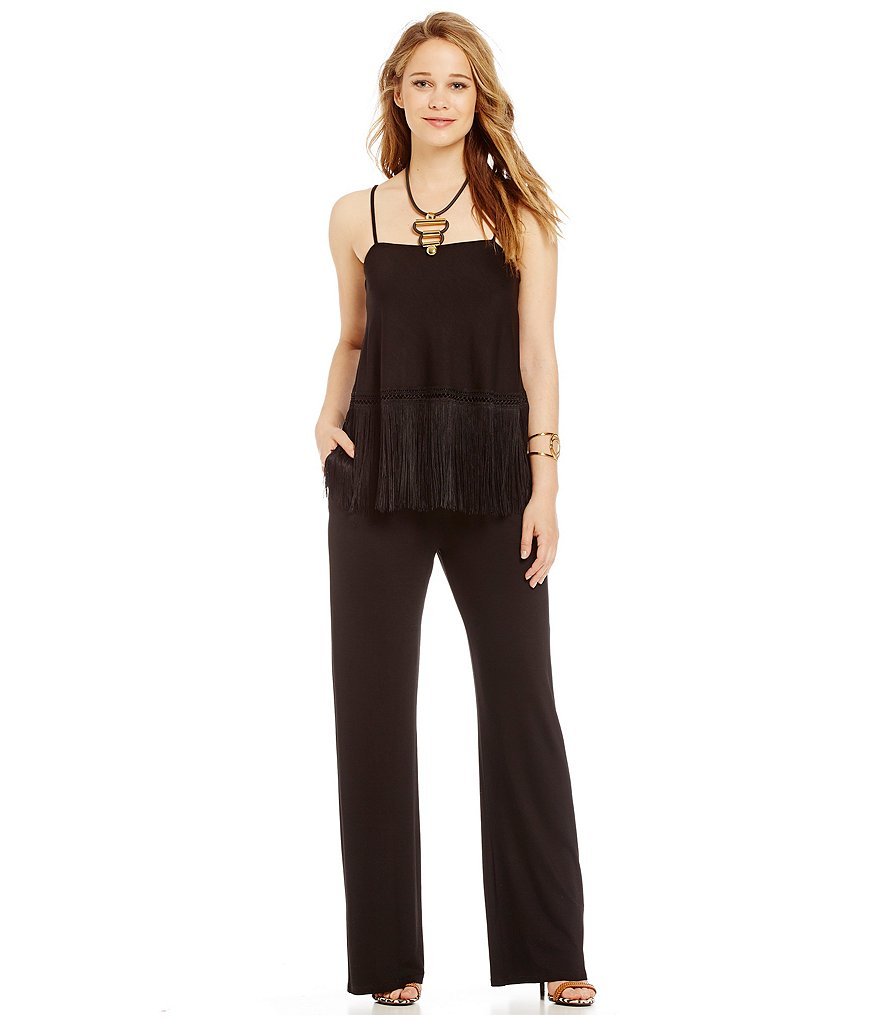 Trina Turk Serika Fringe Detailed Pull-On Jumpsuit