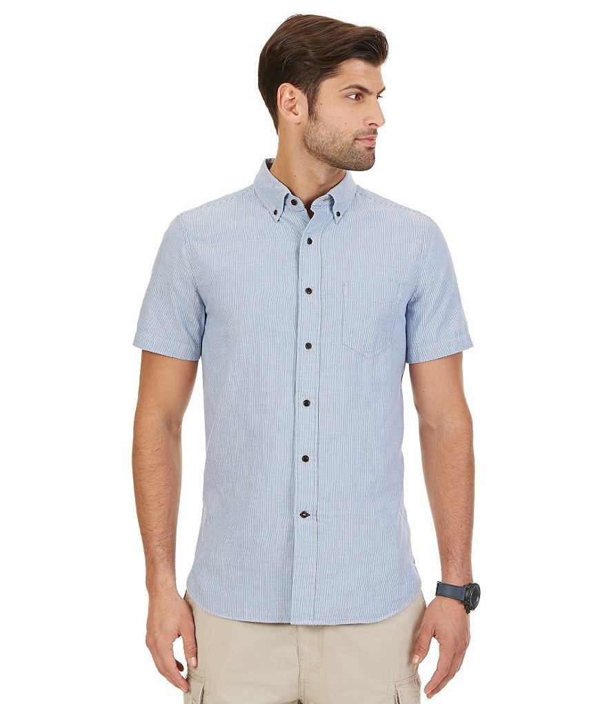 Nautica Slim-Fit Striped Short-Sleeve Shirt