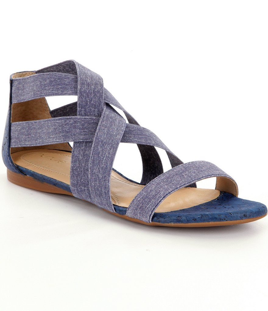 Nurture Women´s Hayvan Denim Criss Cross Banded Sandals