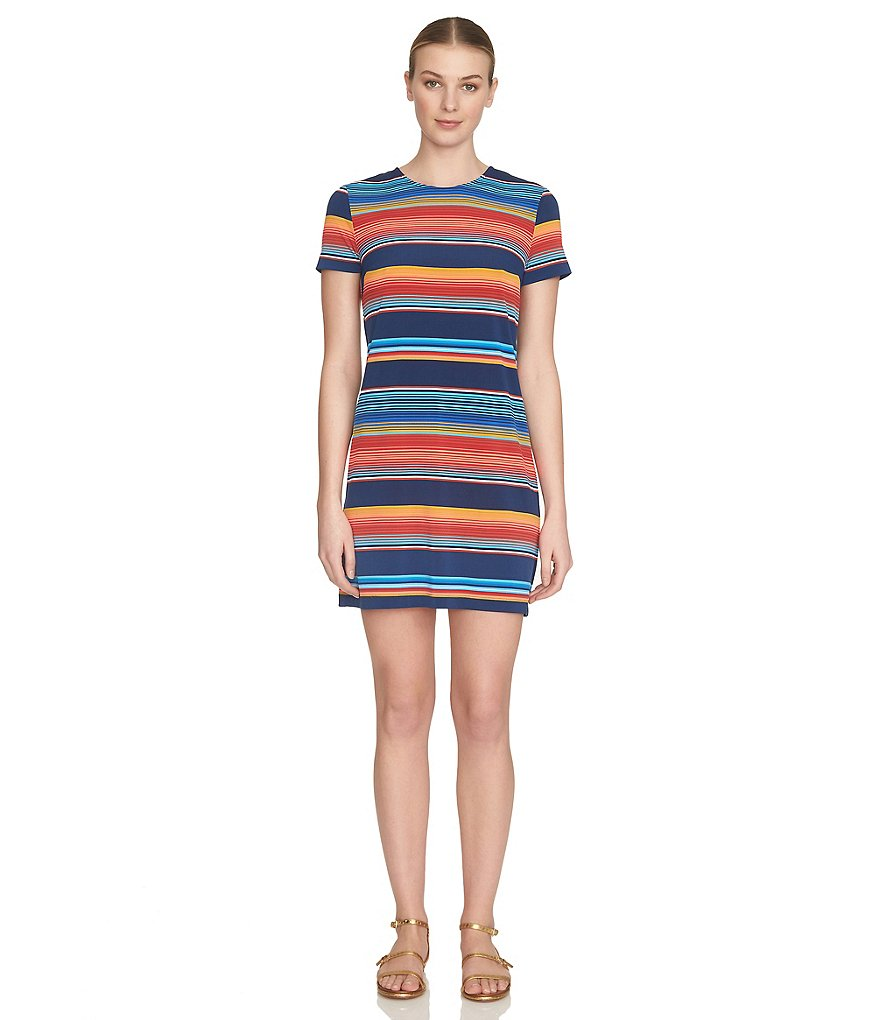 1. STATE Fiesta Stripe T-Shirt Dress