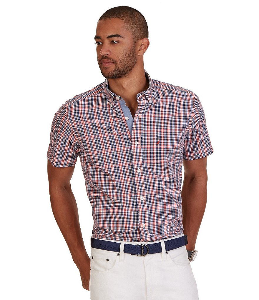 Nautica Union Plaid Short Sleeve Shirt