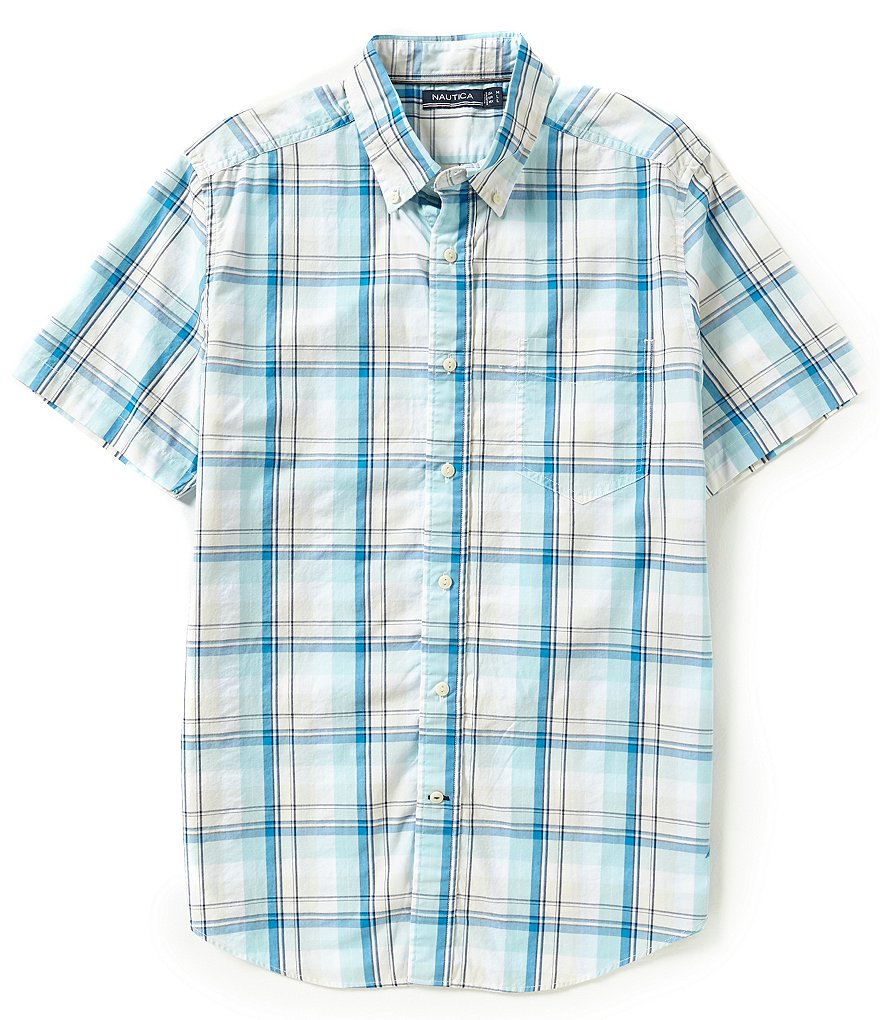 Nautica Byron Plaid Short Sleeve Shirt