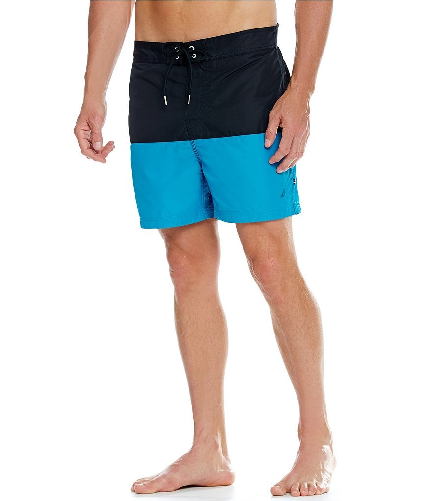 Nautica Quick-Dry Pieced Color Block Swim Trunks