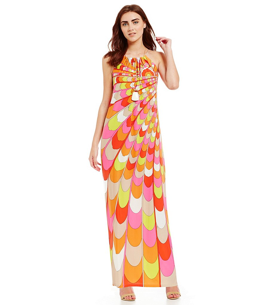 Trina Turk Dresses Bennie Halter Maxi Dress