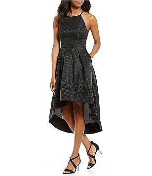 Aidan Aidan Mattox High-Low Halter Dress