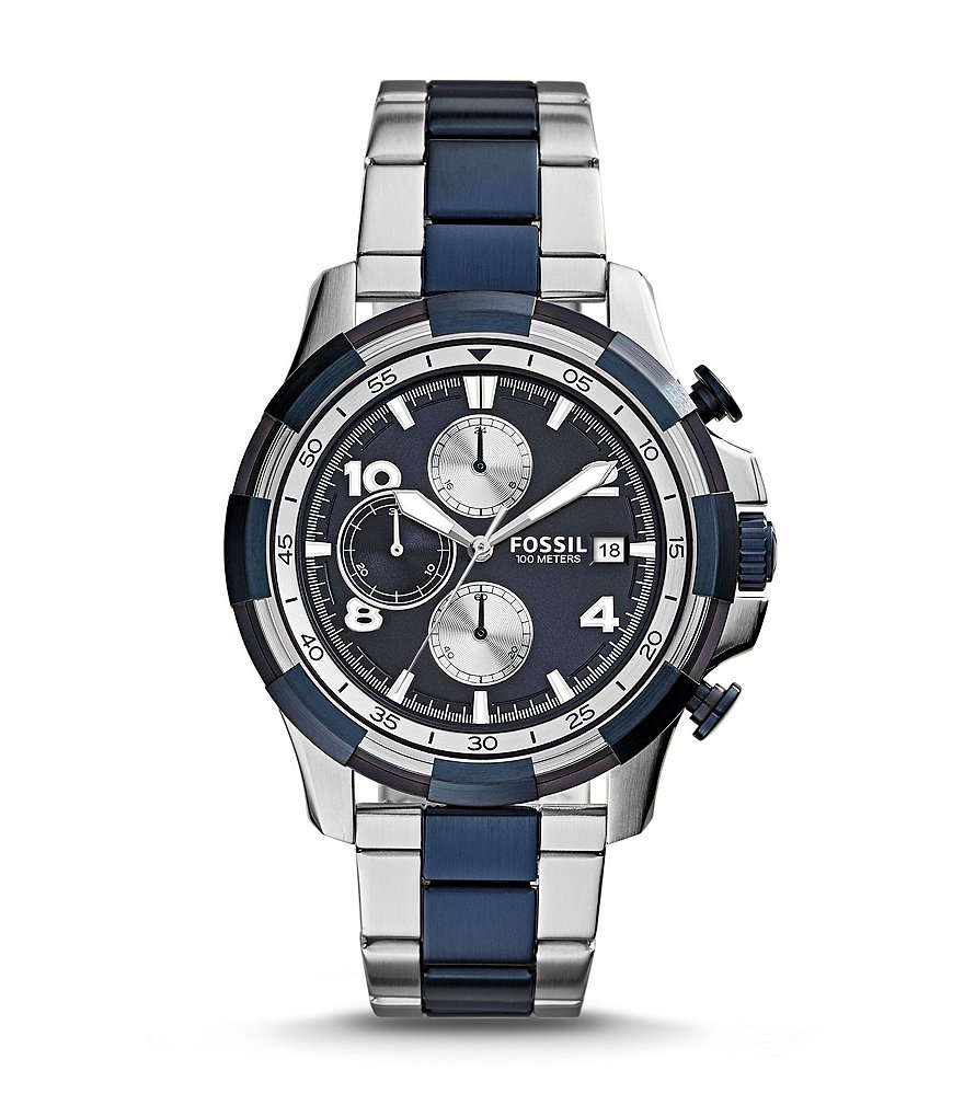 Fossil Dean Stainless Steel Chronograph Bracelet Watch