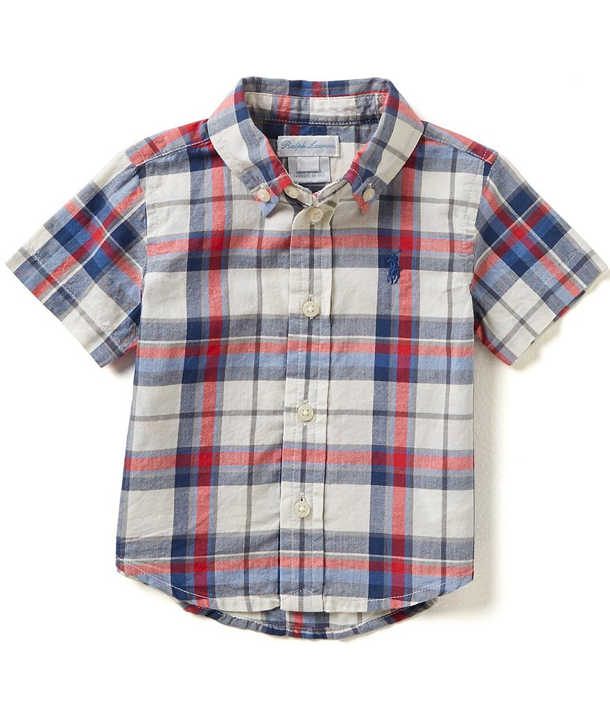 Ralph Lauren Childrenswear Baby Boys 3-24 Months Preppy Plaid Woven Button-Down Shirt