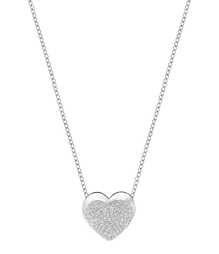 Swarovski Even Heart Reversible Pendant Necklace
