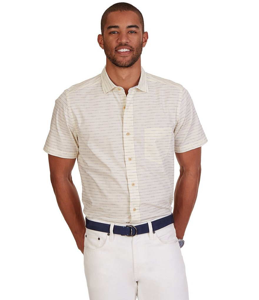 Nautica Classic-Fit Printed Short-Sleeve Shirt
