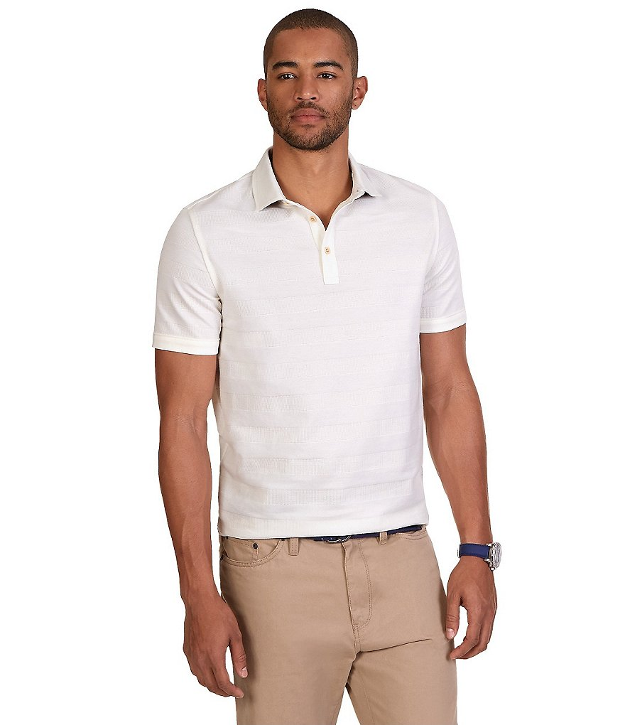 Nautica Classic-Fit Horizontal Striped Polo Shirt