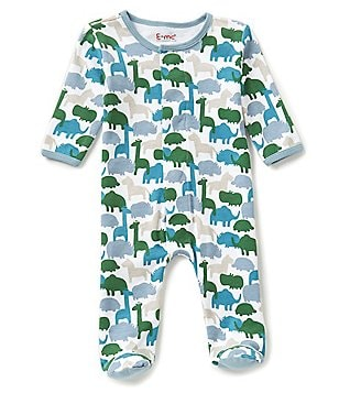 E=MC2 Newborn-9 Months Zoo Time Footed Coverall