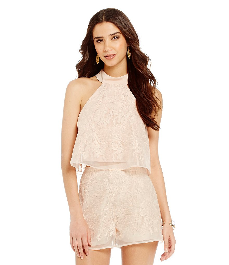 Keepsake Sundream Lace High Neck Top