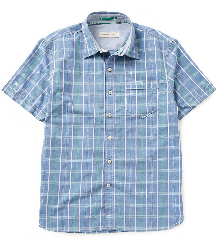 Tommy Bahama Short-Sleeve Penetela Plaid Woven Shirt