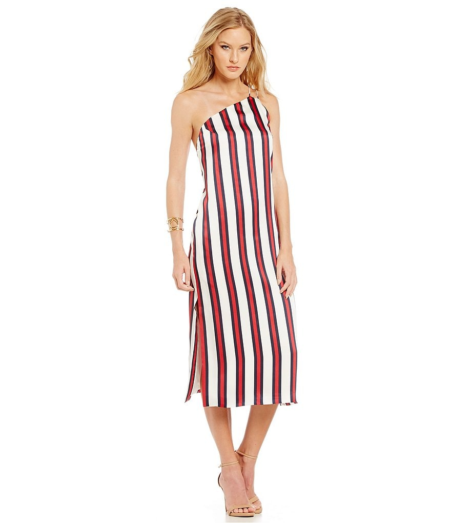Finders Keepers More Time Mid-Length Striped Dress