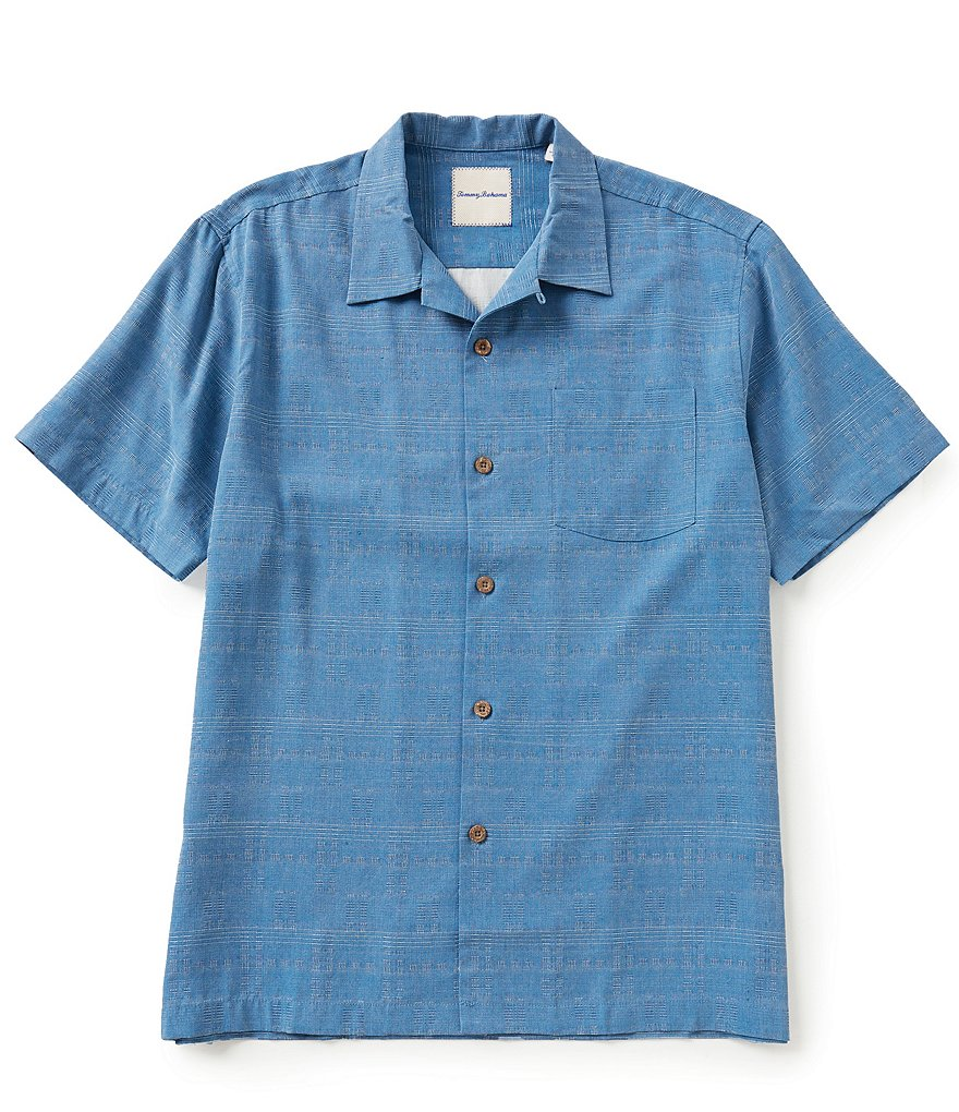 Tommy Bahama Short-Sleeve Geo Pattern Jacquard Woven Shirt
