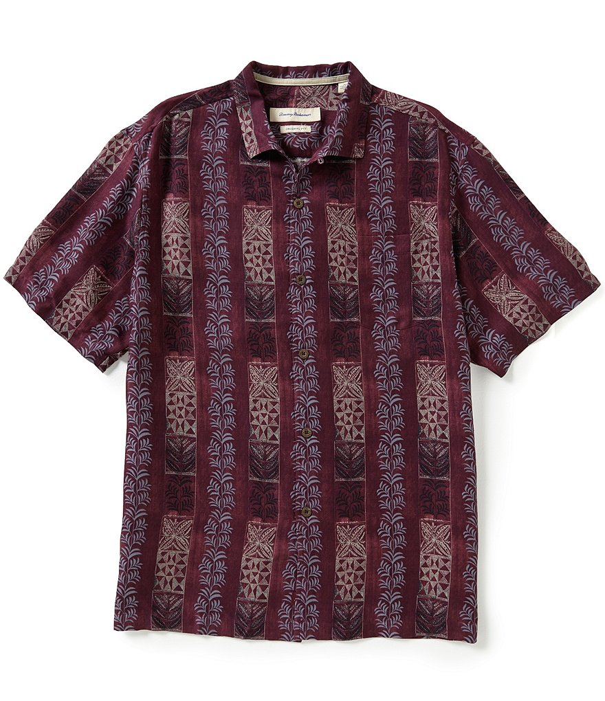 Tommy Bahama Short-Sleeve Tropical Totem Stripe Woven Shirt