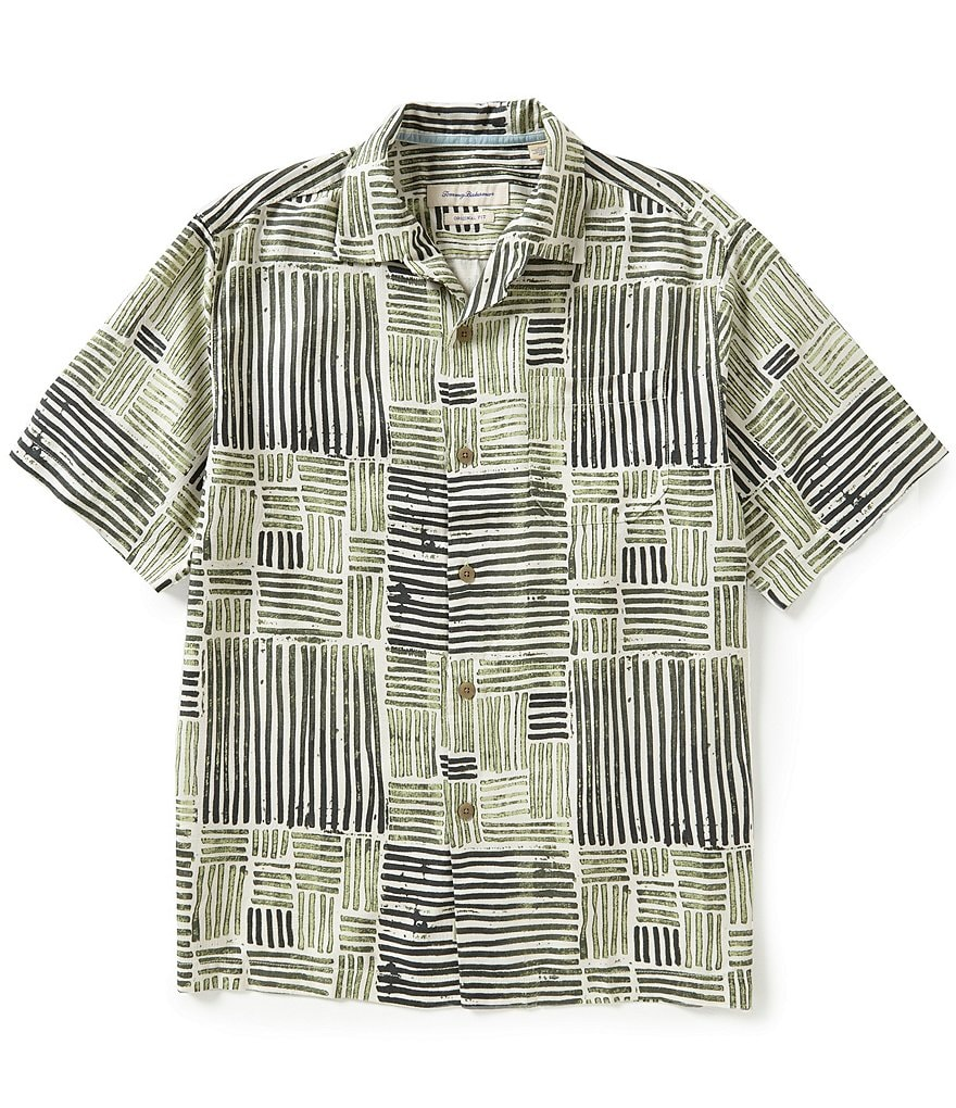 Tommy Bahama Short-Sleeve Terrace Tile Print Woven Shirt