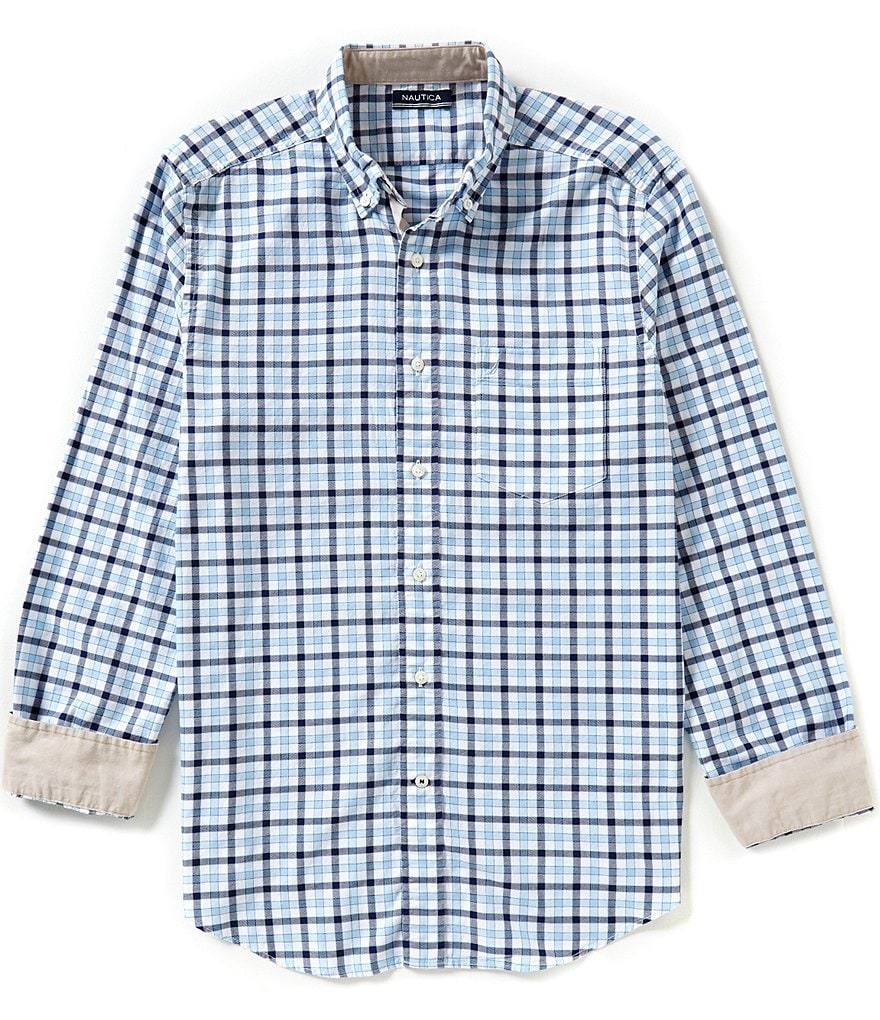 Nautica Classic-Fit Marine Checked Shirt