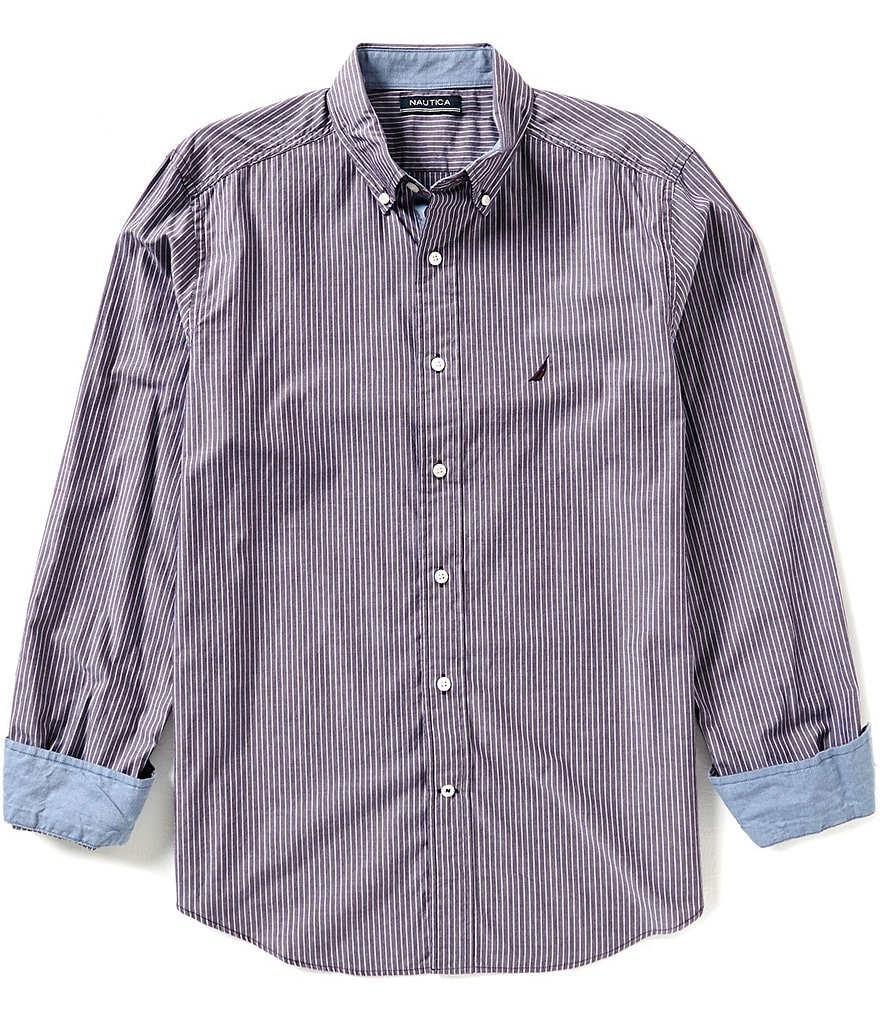 Nautica Classic-Fit Cool Striped Shirt