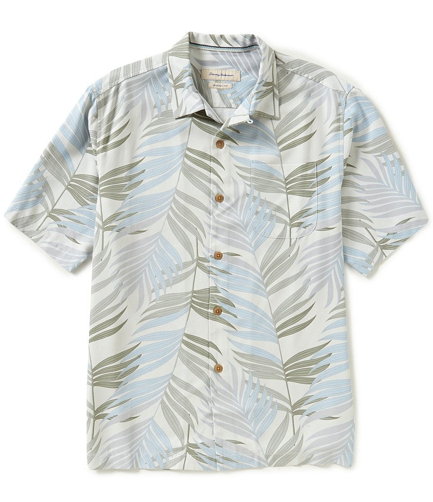 Tommy Bahama Short-Sleeve La Palmera Palm Print Woven Shirt
