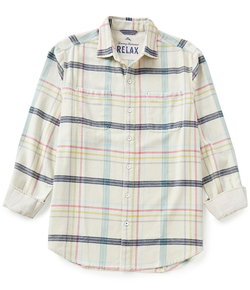 Tommy Bahama Long-Sleeve Sun & Sea Plaid Flannel Woven Shirt