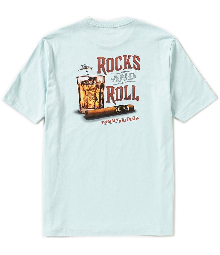 Tommy Bahama Short-Sleeve Smokin Rocks Graphic Tee