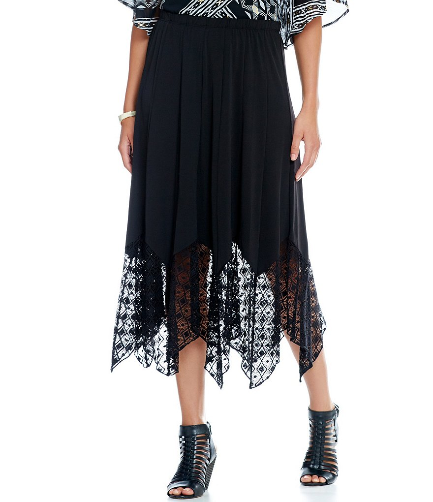 Ruby Rd. Petite Long Gored Pull-on Knit Skirt