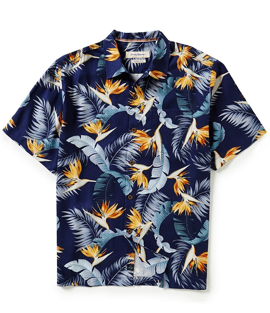 Tommy Bahama Short-Sleeve Majestic Floral Woven Shirt