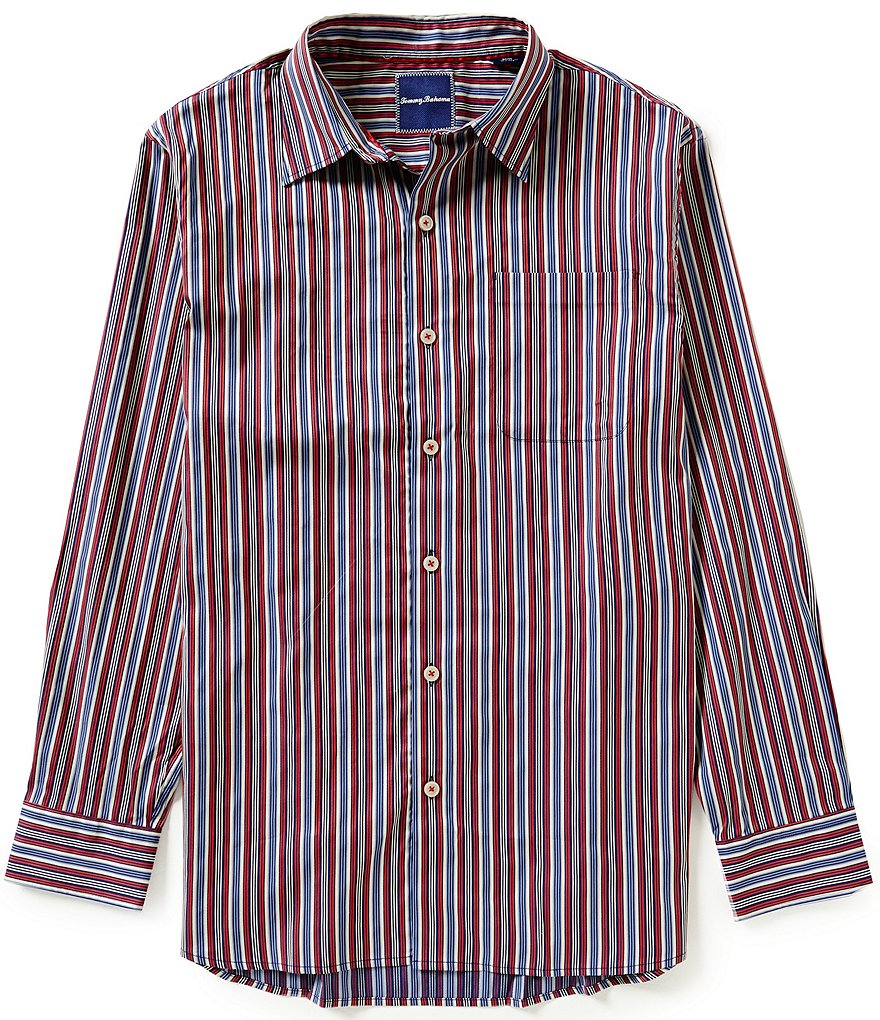 Tommy Bahama Long-Sleeve Sea Mist Stripe Woven Shirt