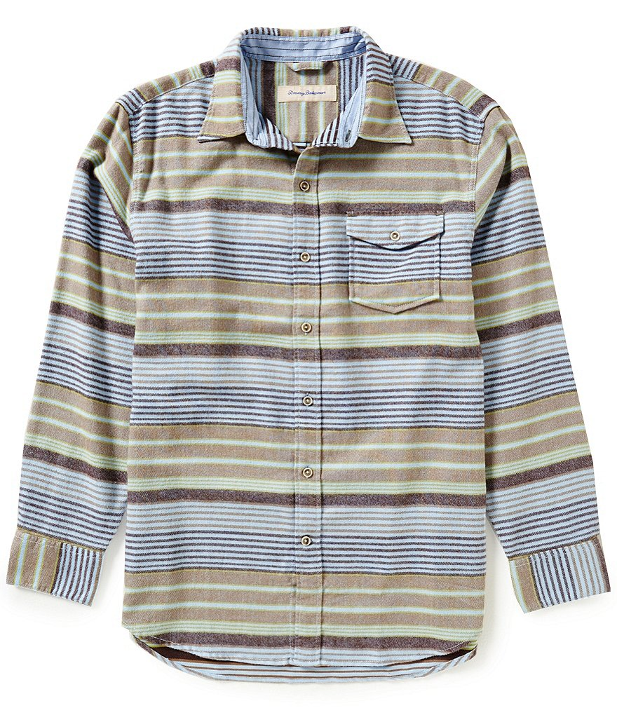 Tommy Bahama Long-Sleeve Breaker Horizontal Stripe Woven Shirt