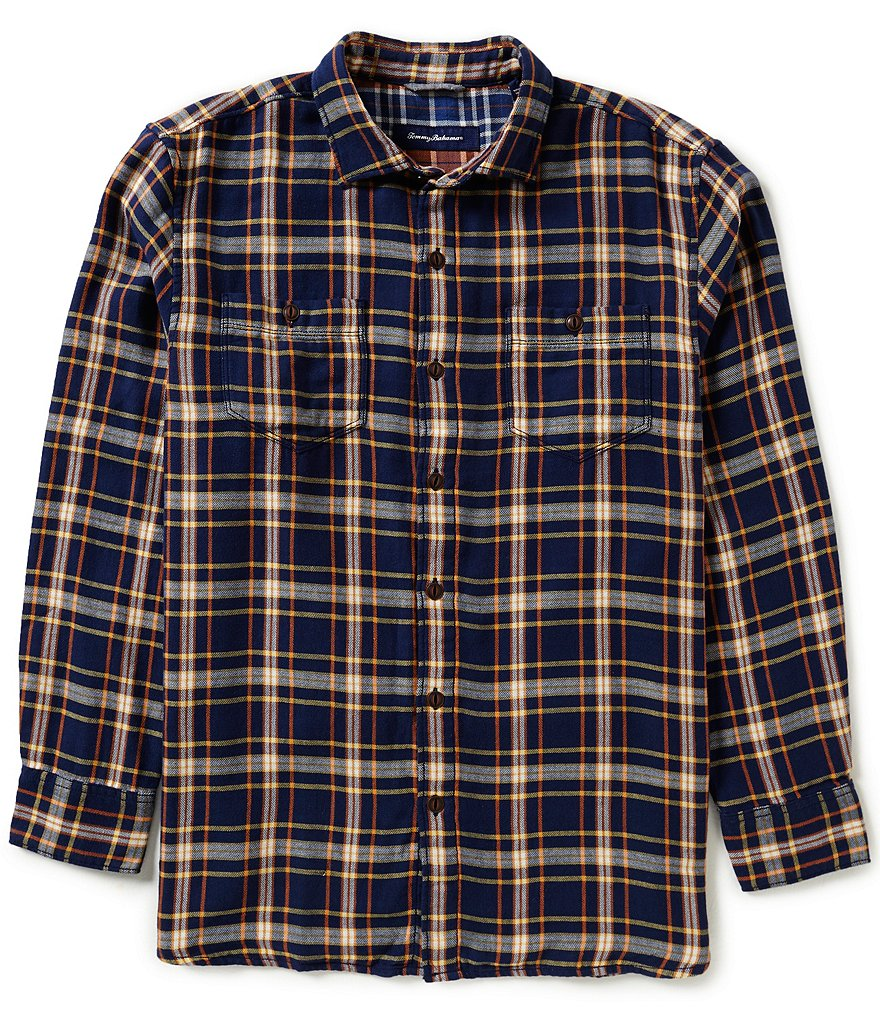 Tommy Bahama Flannel Del Fuego Plaid Long-Sleeve Woven Shirt