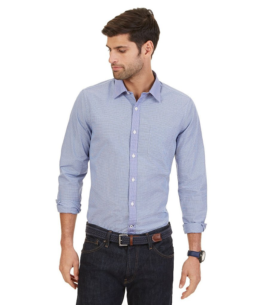Nautica Collared Button-Front Woven Shirt