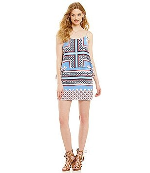 1. STATE Pop Over Printed Dress